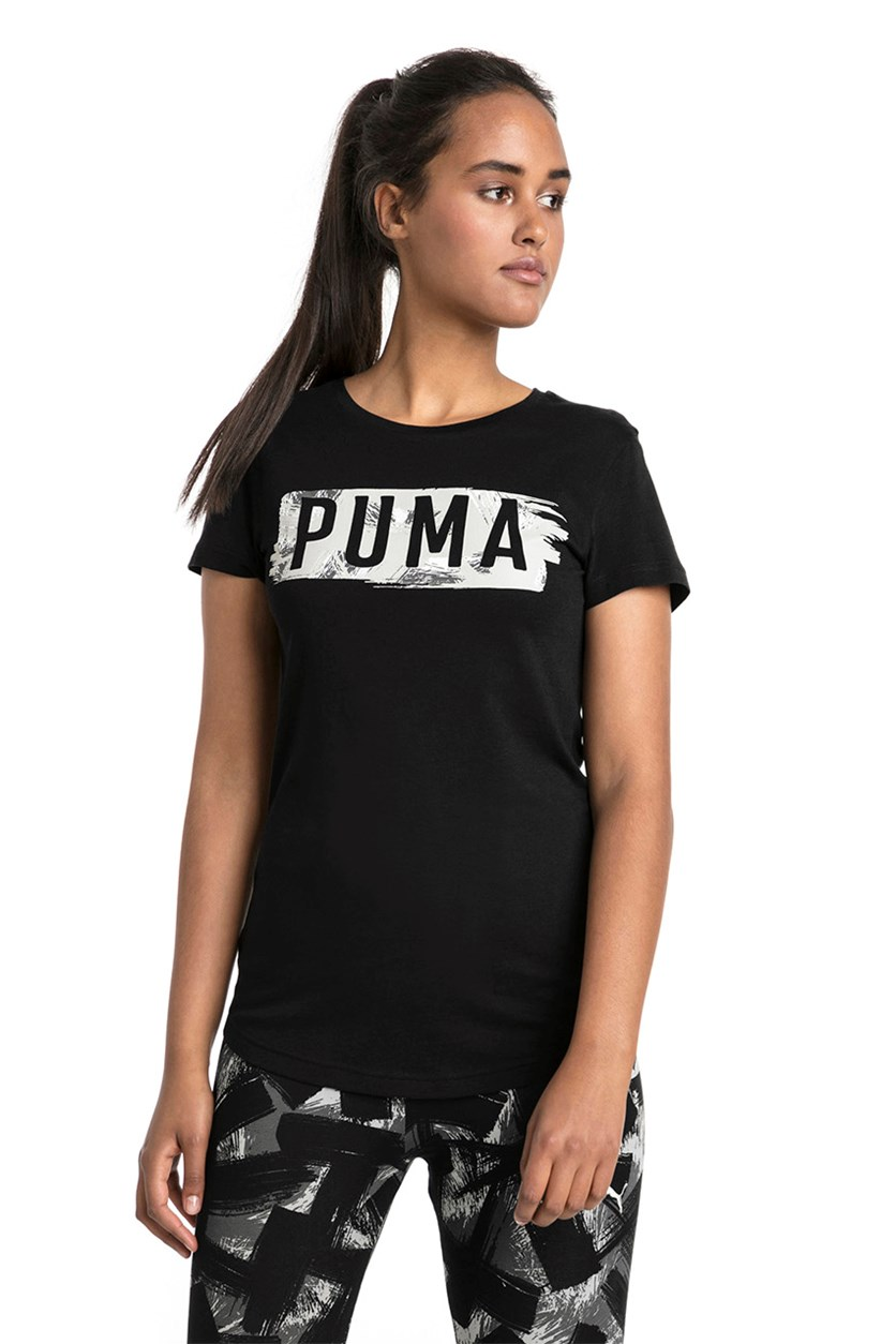 Women's Fusion Graphic Tee, Black