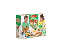 Feed & Groom Horse Care Play Set, Green Combo