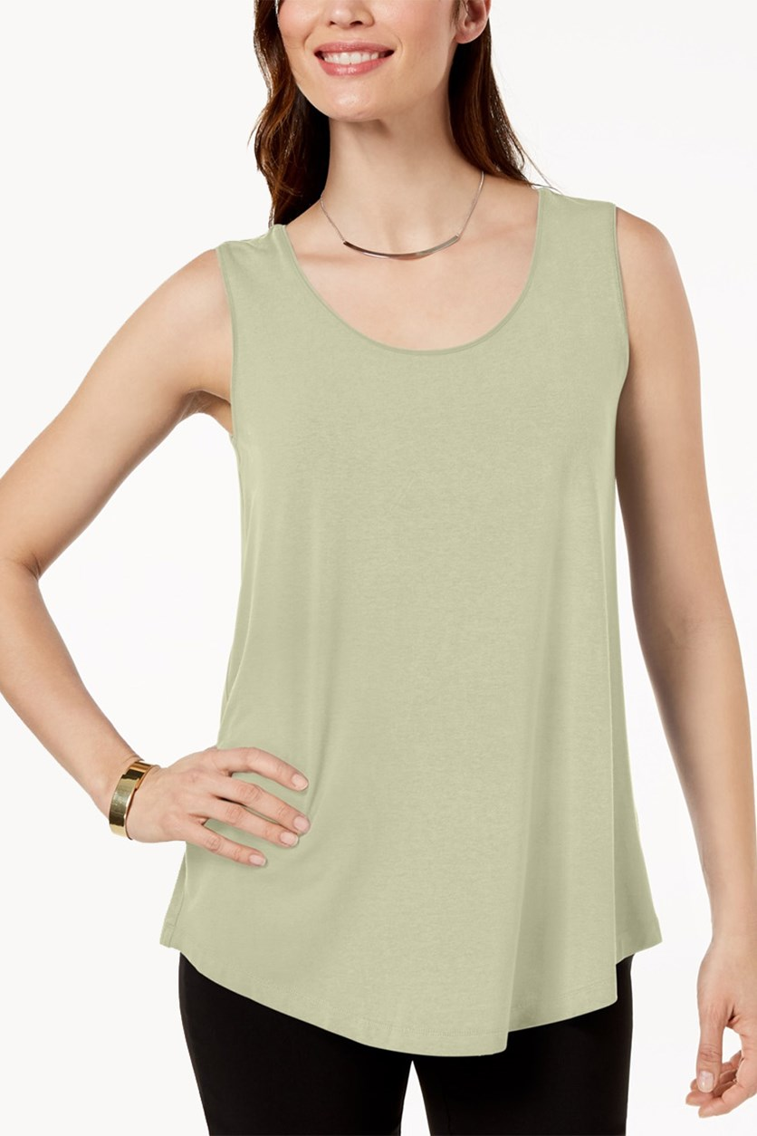 Petite Scoop-Neck Tank Top, Sand