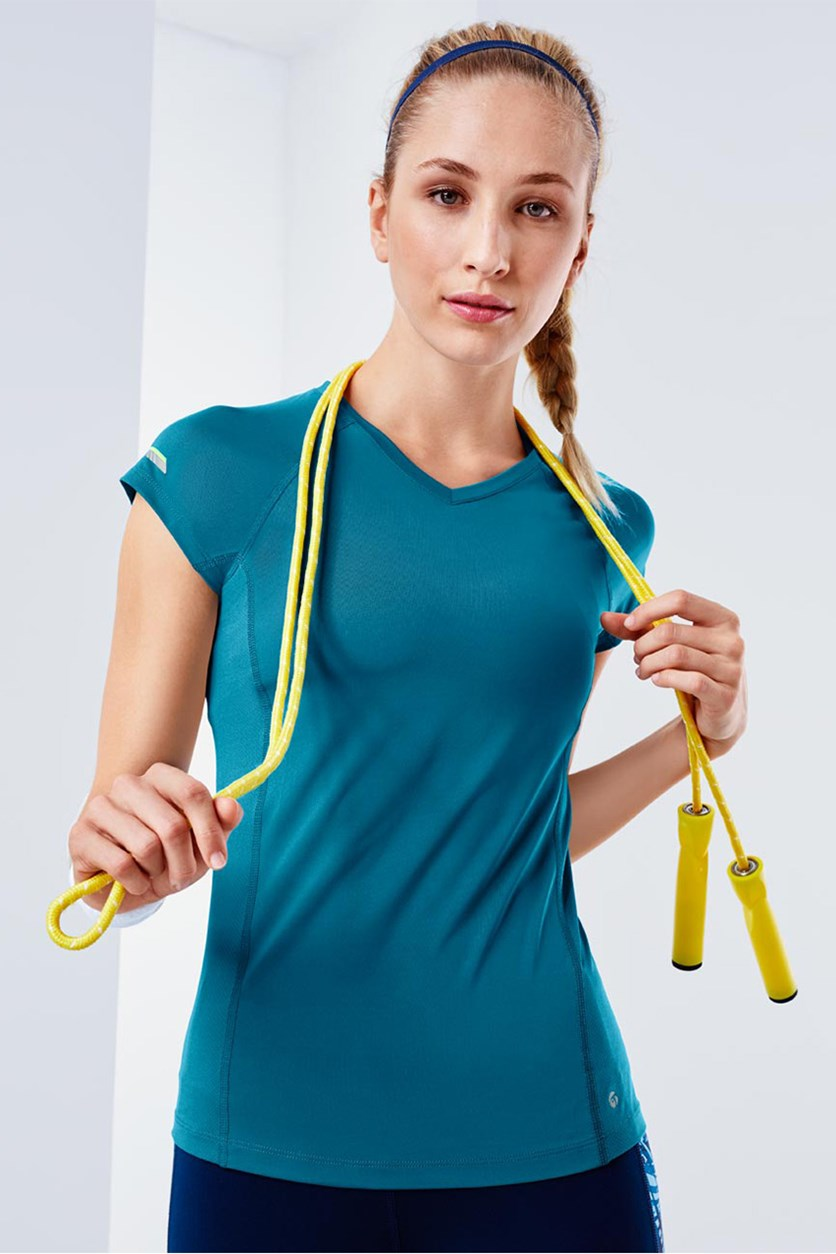 Women's Sport Top, Petrol