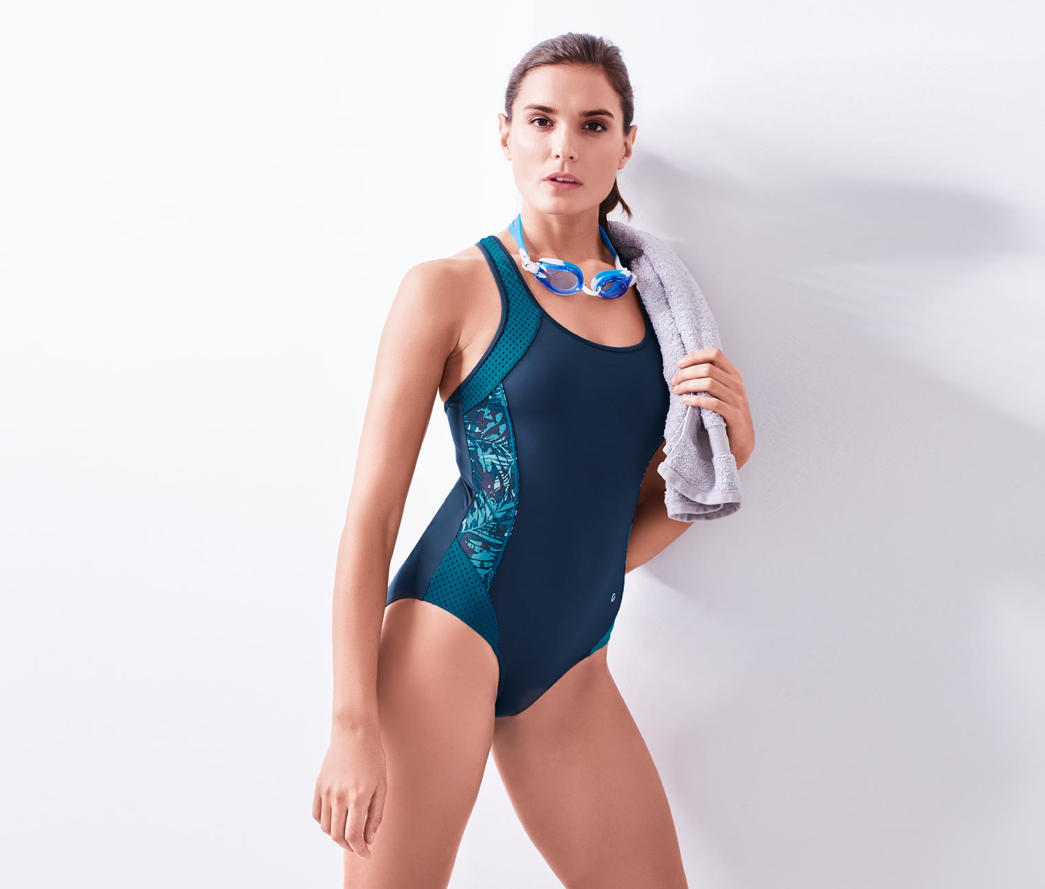 Women's Sports Swimsuit, Petrol