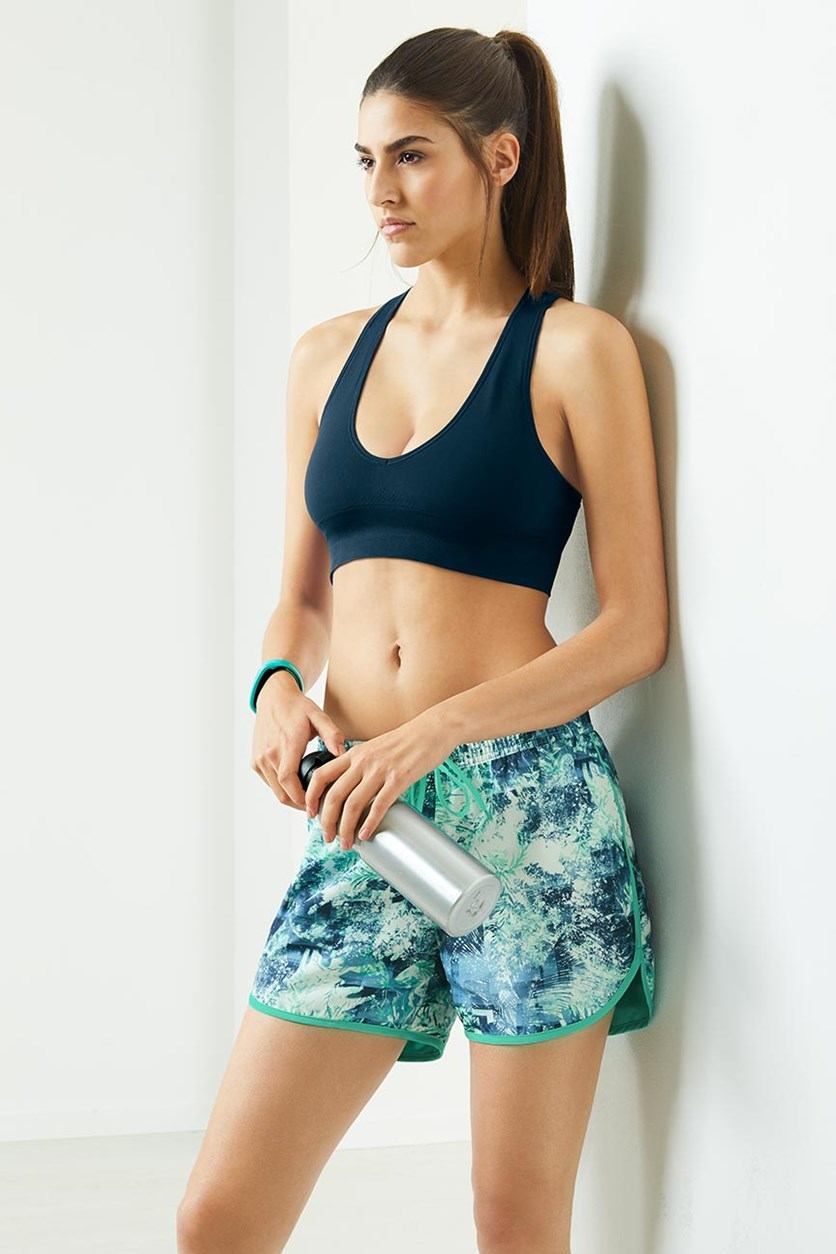 Women's Reversible Sports Short, Mint/Blue