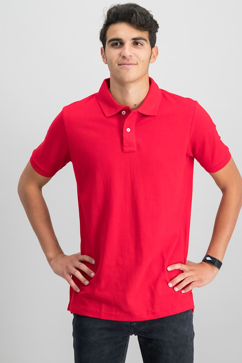 Men's Classic Polo Shirt, Red