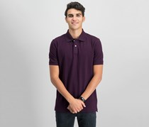 Tahari Sports Men's Classic Fit Polo Shirt, Burgundy