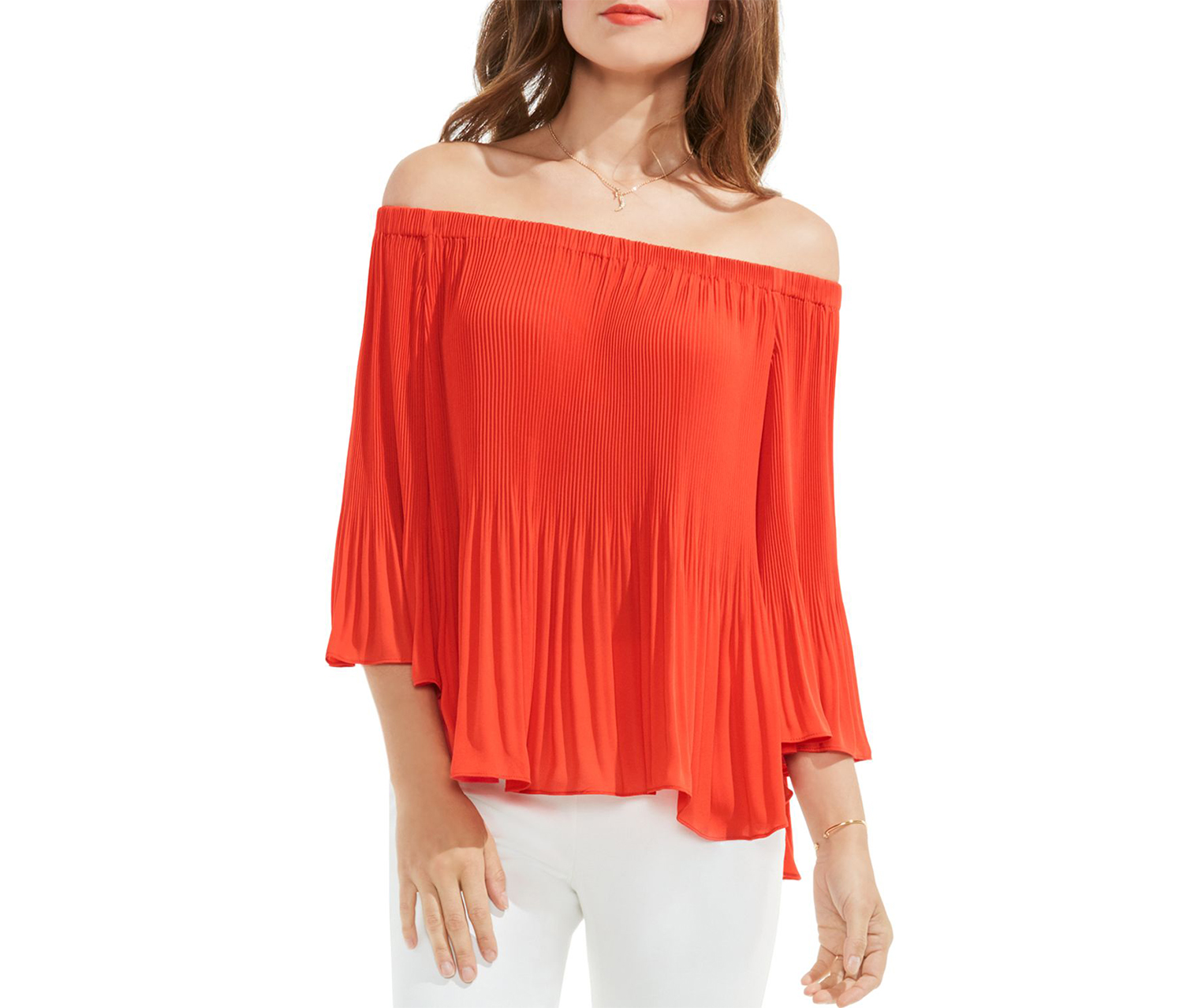 Vince Camuto Women's Off-The-Shoulder Top, Red