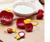 Measuring spoon set with Eitrenner, Maroon/Yellow