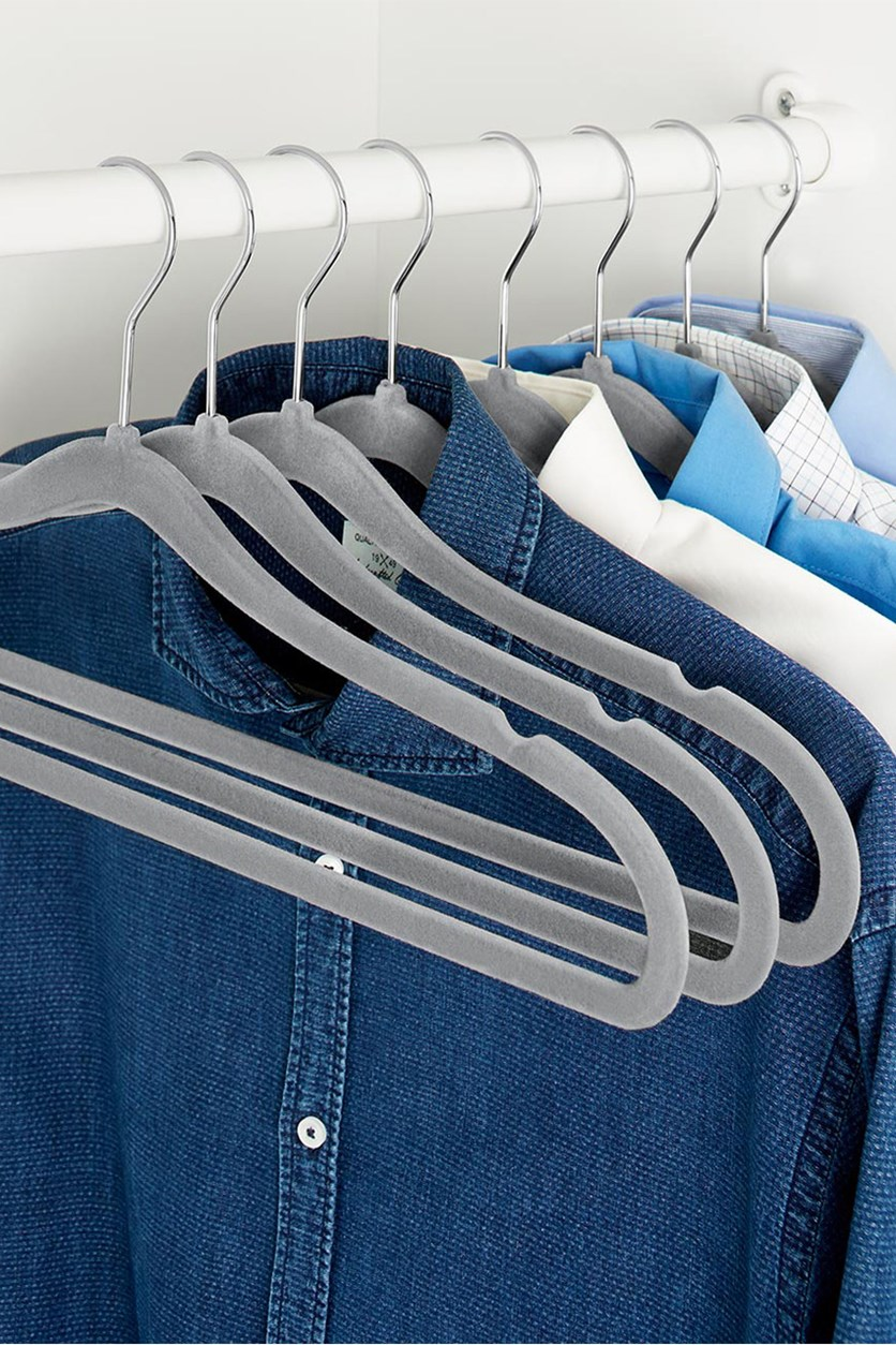 8 Clothes Hangers, Grey