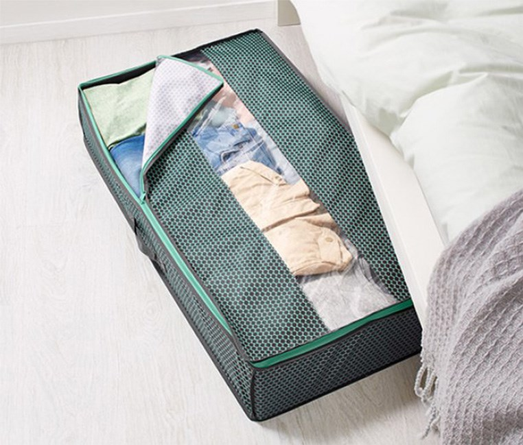 Underbed Storage Bag, Dark Grey/Green