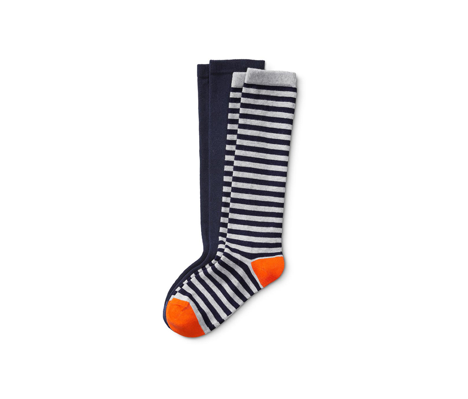 Kids Boy's Or Girls Knee Socks, Navy/Grey