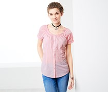 Women's Short Sleeved Shirt, Pink