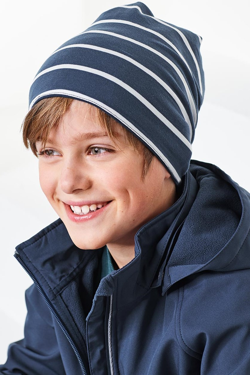 Boys Reversible Hat, Blue/Green