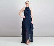 C/Meo Collective Allude Halter Maxi Dress, Navy