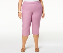 Alfred Dunner Plus Size Pull-On Capri Pants, Orchid