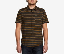 Volcom Men's Slim-Fit Striped Shirt, Stealth