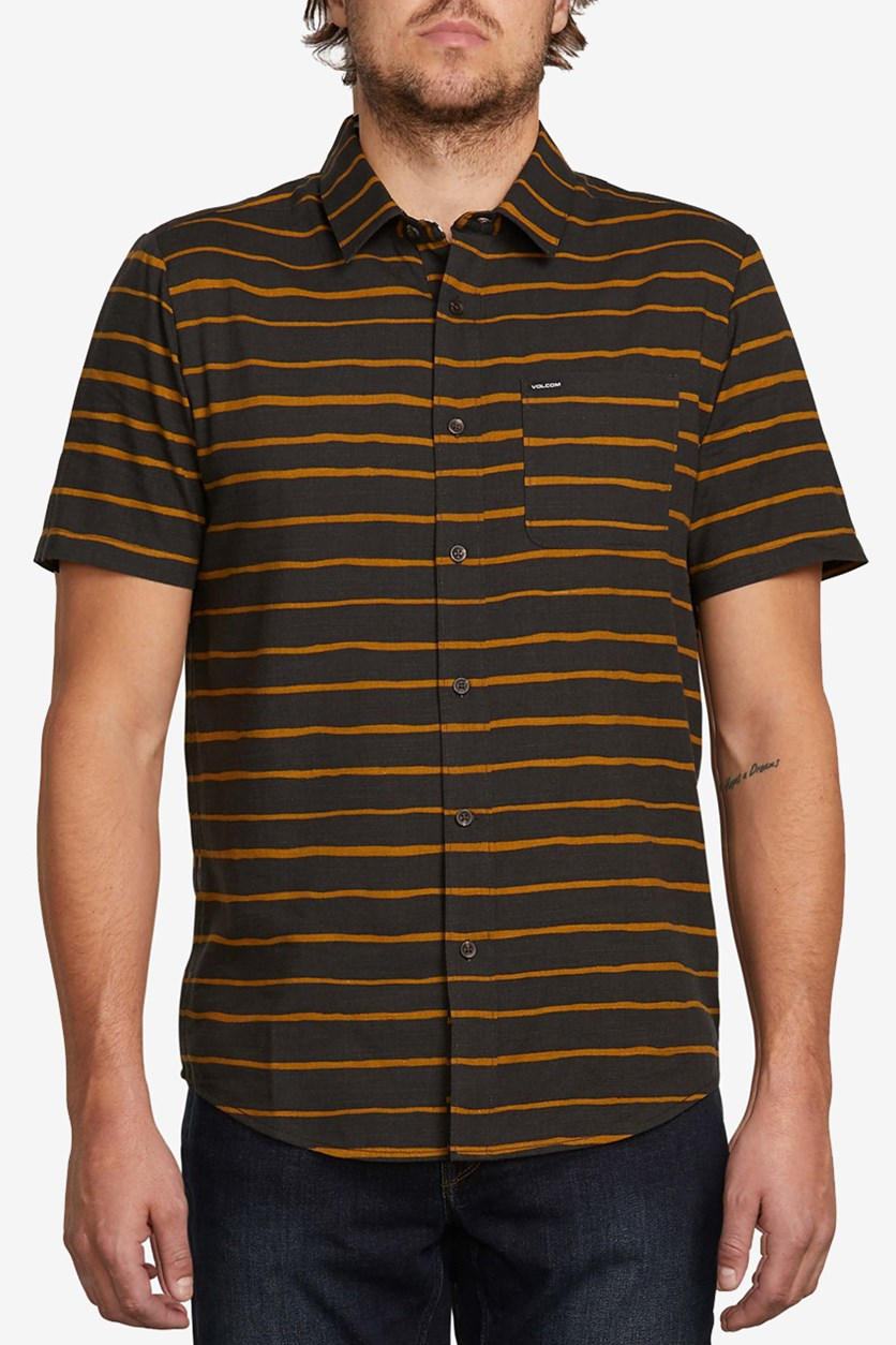 Men's Slim-Fit Striped Shirt, Stealth