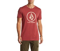 Volcom Men's Fall Stone Short Sleeve Tee, Brown