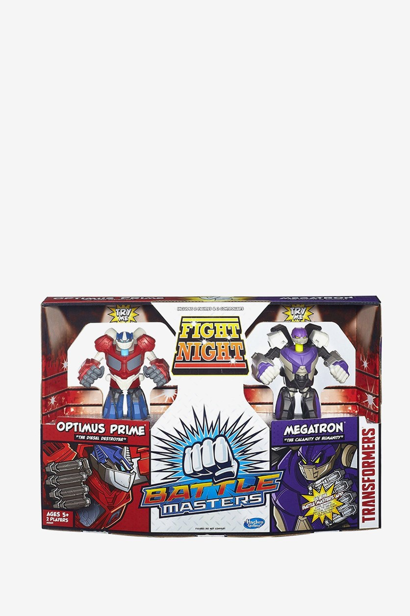 Hasbro Transformers Optimus Prime and Megatron Battle Masters Action Figure, Red/Purple