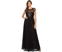 Adrianna Papell Chantilly Lace Gown, Black
