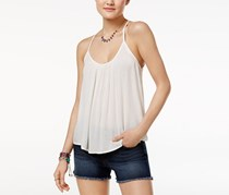 Roxy Juniors' Fly With Me Strappy Crisscross Tank Top, White