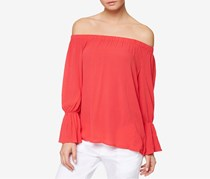 Sanctuary Women's Off-The-Shoulder Top, Pomgranate