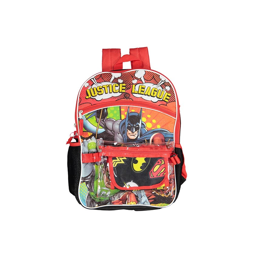 Kids Boys 5-Pc. Justice League Backpack, Red/Black