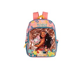 Kids Girls Moana Backpack, Bronze/Pink Combo