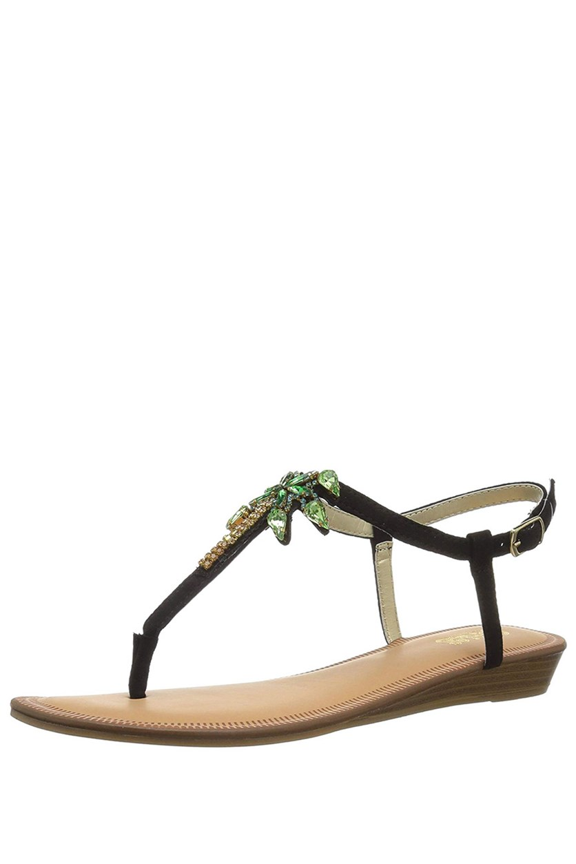 by  Santana Women's Tahiti Wedge Sandal, Black
