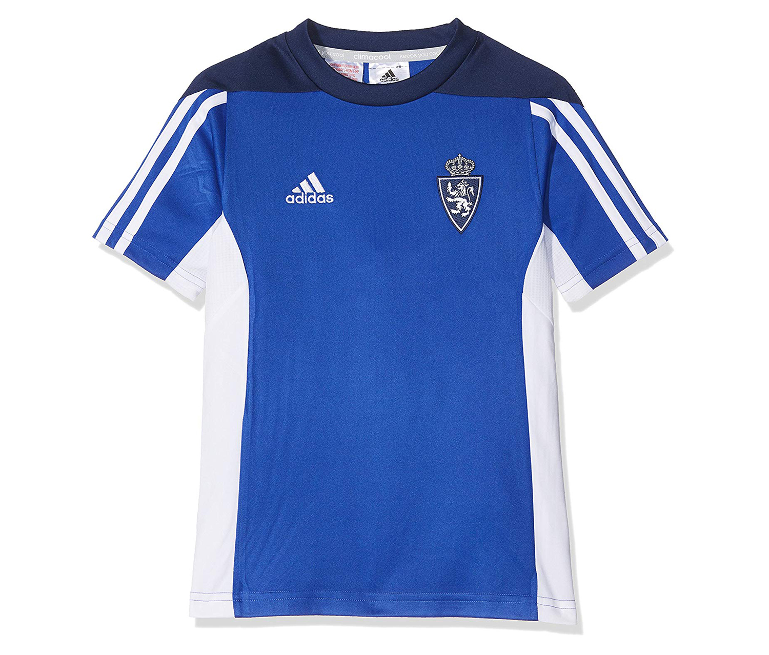 Adidas Boy's Sport T-Shirt, Blue/White