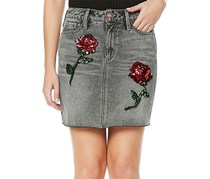 Buffalo David Bitton Women's  Ivy Denim Skirt, Grey