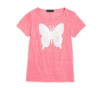 Bloomie's Girl's High Low Cinch Back Tee, Pink