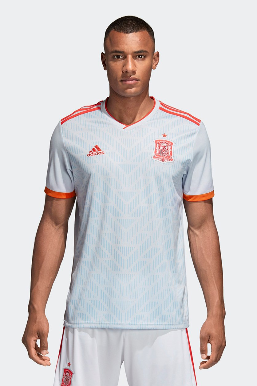 Men's Spain Away Jersey, Halu Blue/Bright Red