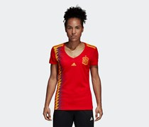 Women's Spain Home Jersey, Red/Bold Gold