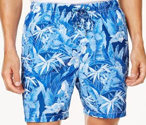 Tommy Bahama Men's Naples Oasis Blooms Shorts, Blue