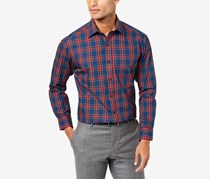 Club Room Men's Regular Fit Tartan Dress Shirt, Blue/Green/Red