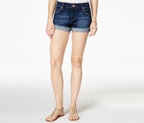 Celebrity Pink Jeans Juniors' Cuffed Denim Shorts, Chandelier Dark
