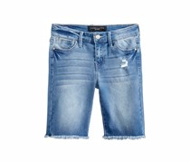 Celebrity Pink Frayed-Hem Bermuda Shorts, Blue