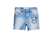 Celebrity Pink Big Girls Embroidered Denim Short, Universe