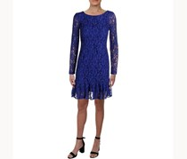 Calvin Klein Ruffled-Hem Lace Dress, Ultramarine