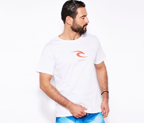 RIP CURL Men's T-Shirt, White