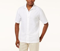 Cubavera Men's Embroidered Shirt, White