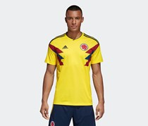 Adidas Men's Colombia Home Jersey, Bright Yellow/Collagiate Navy