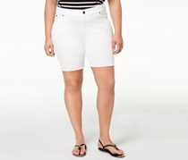 Celebrity Pink Plus Size Bermuda Shorts, Optic White