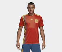 Men's Soccer Spain Home Jersey, Red/Bold Gold