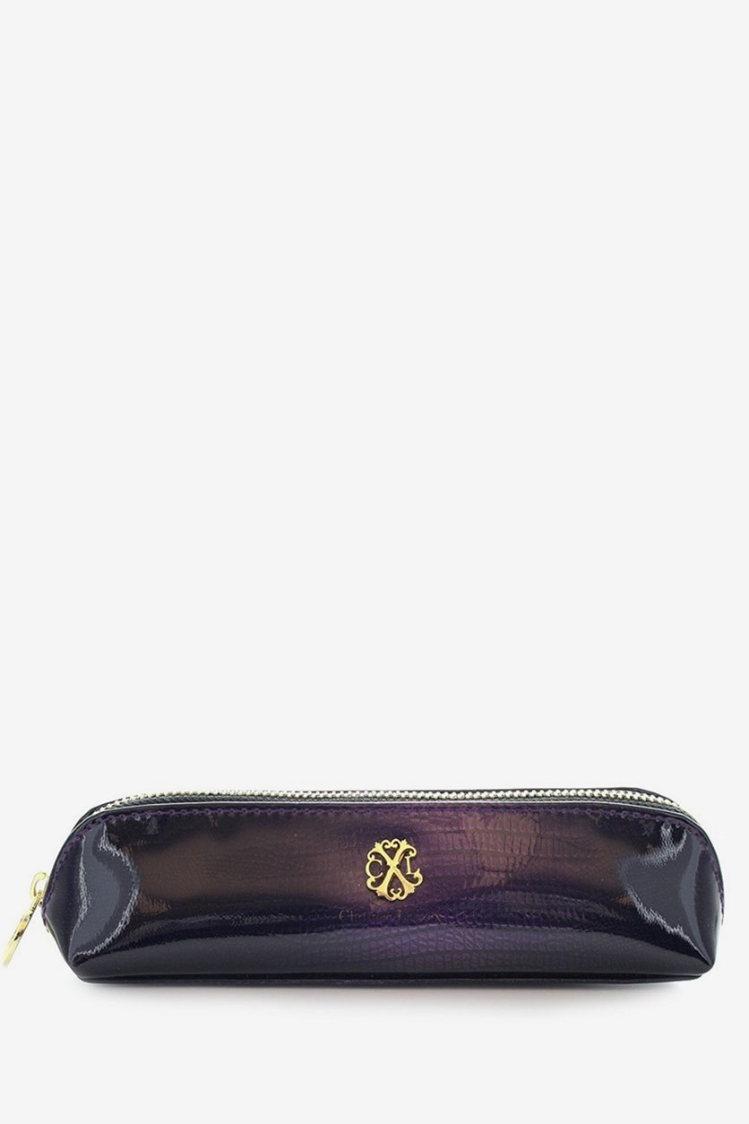 Modern Patent Makeup Pencil Case, Purple/Violette