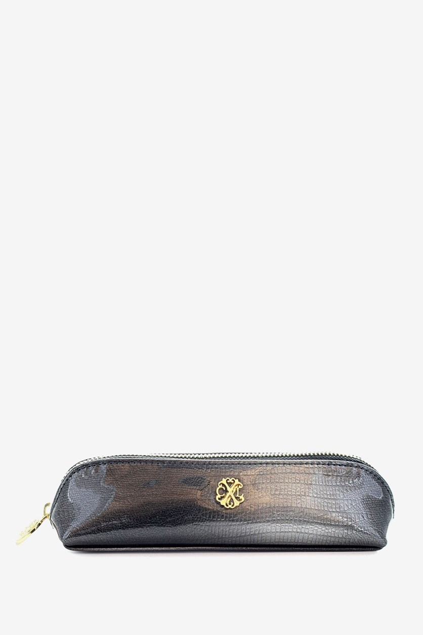 Modern Patent Makeup Pencil Case, Slate/Ardoise
