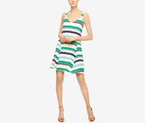 Women Harlow Striped Drop-Waist Dress, Montego Bay