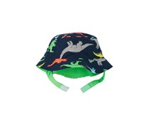 Carter's Reversible Dinosaur-Print Bucket Hat, Navy/Lime Green