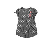 Disney Minnie Mouse Dot-Print Top, Charcoal Heather
