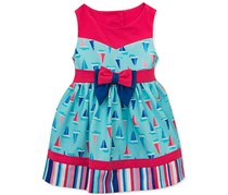 Rare Editions Baby Girls Sailboat Dress, Blue