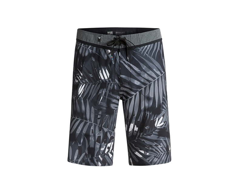 Quiksilver Men's Palm Shade Shorts, Black/Grey